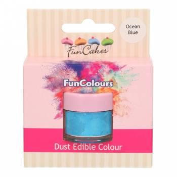 Colorant en poudre Funcakes bleu océan