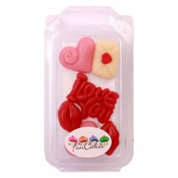 6 Décors pâte d'amande Love Funcakes