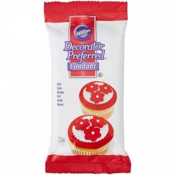 Pâte à sucre Wilton rouge 250gr