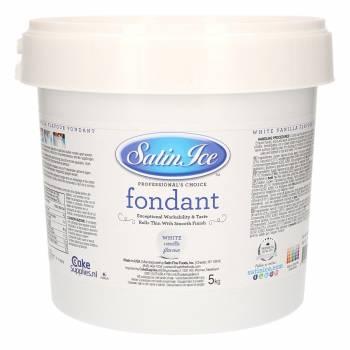 Pâte à sucre Satin ice 5kg blanche vanille