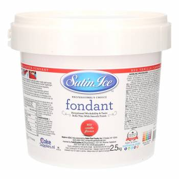 Pâte à sucre Satin ice 2.5 kg rouge