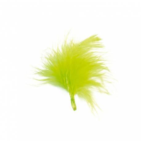 20 plumes de couleur verte anis idéal pour la décoration de table ou de contenants Dimensions : 7cm