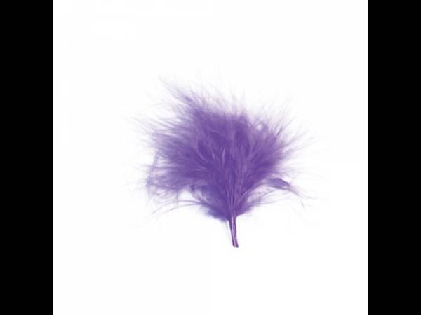 plumes de couleur parme