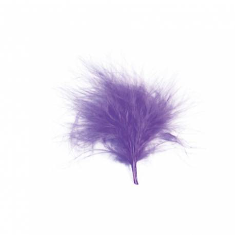 20 plumes de couleur parme idéal pour la décoration de table ou de contenants Dimensions : 7cm