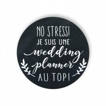 Badge wedding planner noire