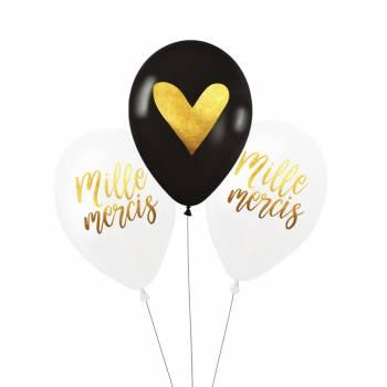 3 Ballons Mille Mercis