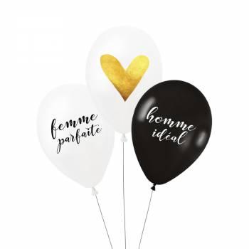 3 Ballons Couple parfait
