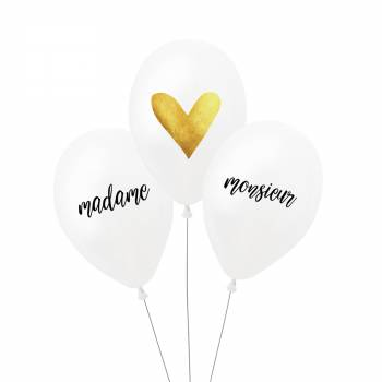 3 Ballons Madame Monsieur