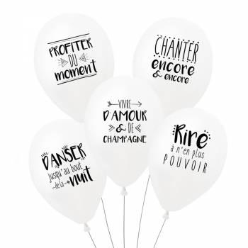 5 Ballons Fête parfaite