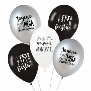 5 Ballons Anniversaire Trendy