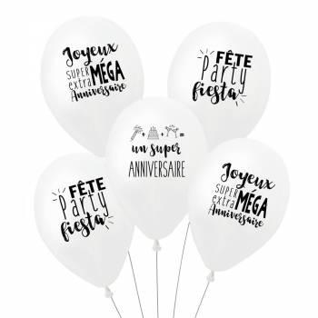 5 Ballons Super Anniversaire