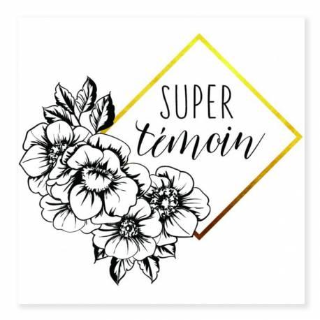 Ce tatouage temporaire fleuri