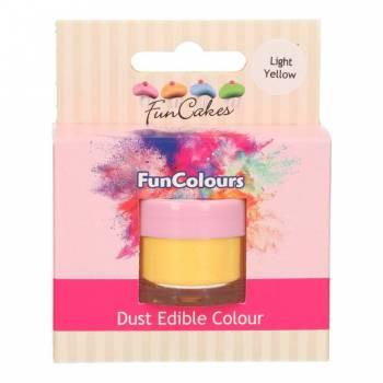 Colorant en poudre Funcakes jaune pâle