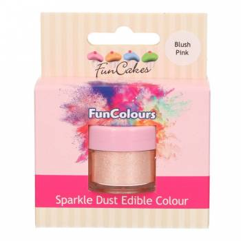 Paillettes alimentaire Funcakes blush rose