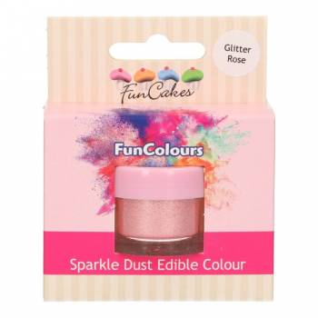 Paillettes alimentaire Funcakes rose glitter
