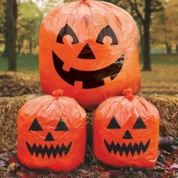 3 sacs citrouille halloween