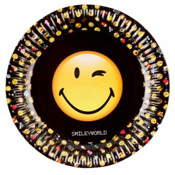 8 Assiettes smiley emoticon