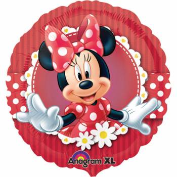 Ballon géant Minnie pois rouge
