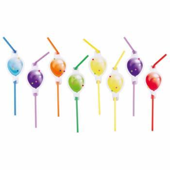 8 pailles Ballons