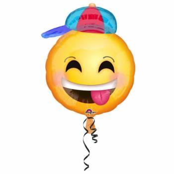 Ballon hélium émoticon casquette