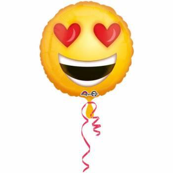 Ballon hélium emoticons yeux love