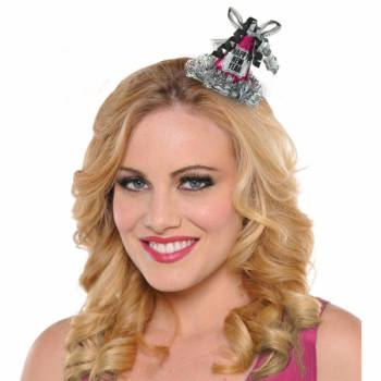 Barette Mini Chapeaux Happy new year rose