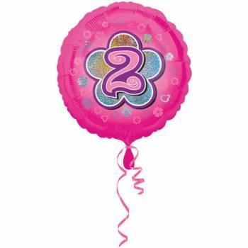 Ballon rose 2 ans