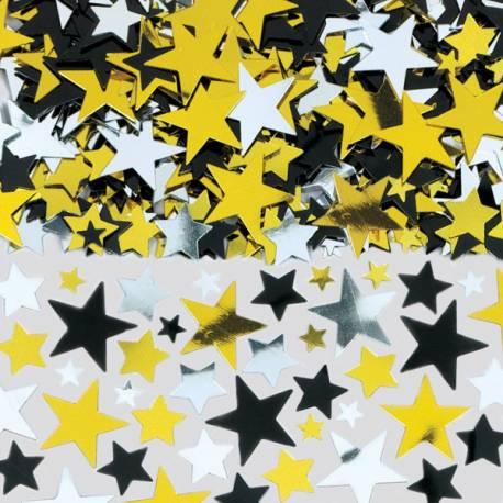 Confettis étoiles hollywood pour anniversaire sur le thème du cinéma Sachet de 70 grs