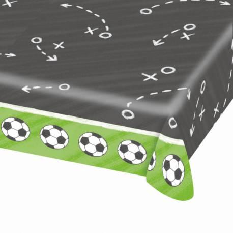 Nappe de fête plastique idéal pour l'apéro devant un match de foot Dimensions: 175cm x 115cm
