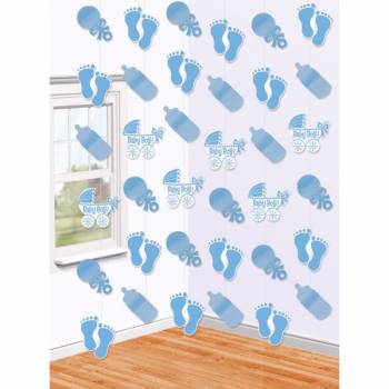 6 Guirlandes Baby shower Baby bleu
