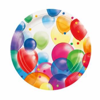 8 Assiettes Ballons