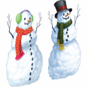 2 Décors muraux bonhomme de neige