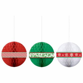 3 Lanterne de Noël nid d'abeille