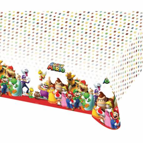 nappe plastique mario bros deco anniversaire. Black Bedroom Furniture Sets. Home Design Ideas