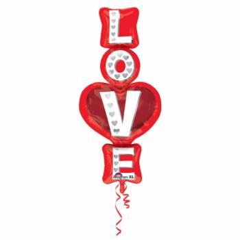 Ballon hélium géant love
