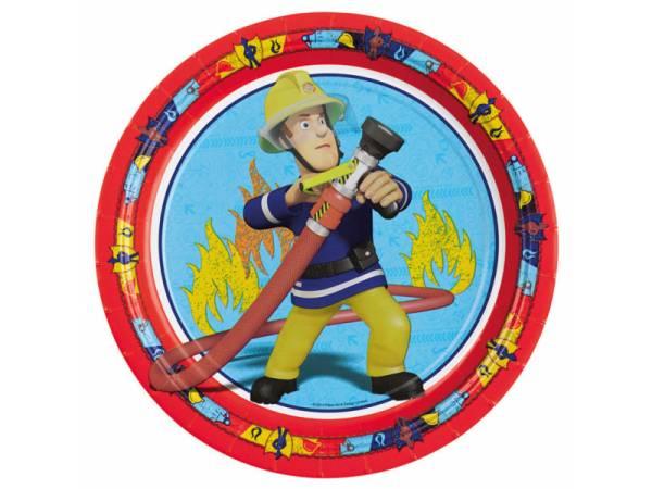 Assiettes sam le pompier deco anniversaire - Deco anniversaire pompier ...