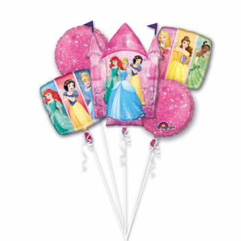 Bouquet ballons hélium Princesses Disney