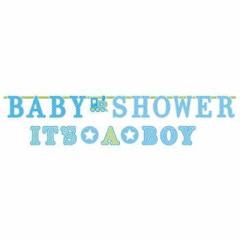 2 Banderoles Welcome Baby Boy