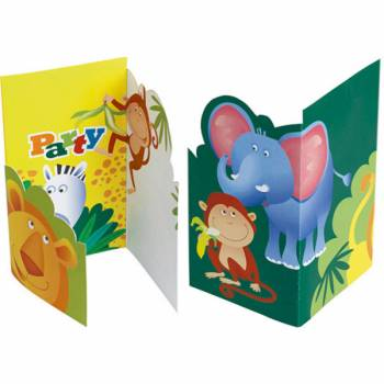 6 Cartes d'invitation safari