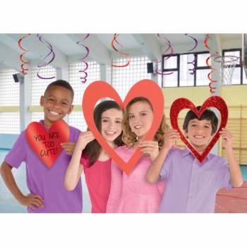 3 accessoires photobooth coeur