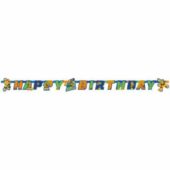 Banderole Happy Birthday Tortue Ninja half Shell Heroes