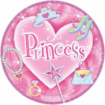 8 Assiettes Princesse Fashion