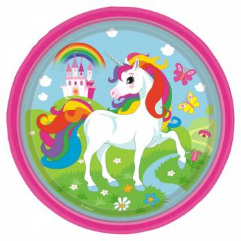 8 Assiettes Licorne Color