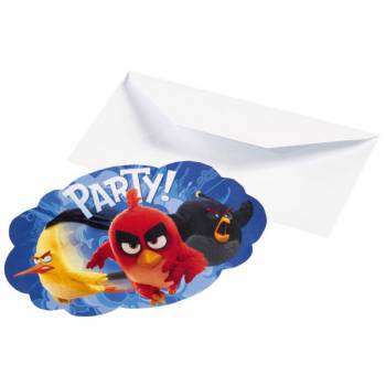 8 Cartes invitations Angry birds