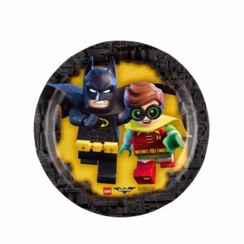 8 Assiettes à dessert Lego Batman