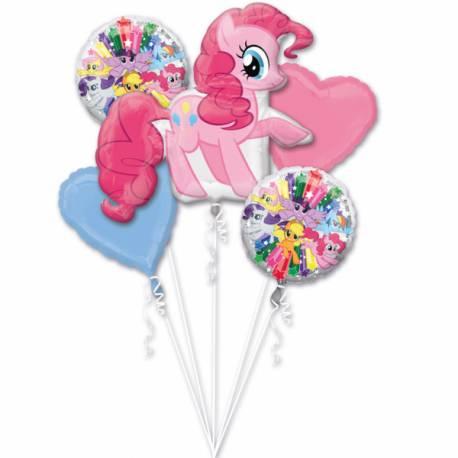 Bouquet de 5 ballons hélium à l'effigie de Mon Petit Poney idéal pour la décoration anniversaire Mon Petit Poney de votre fille. A...
