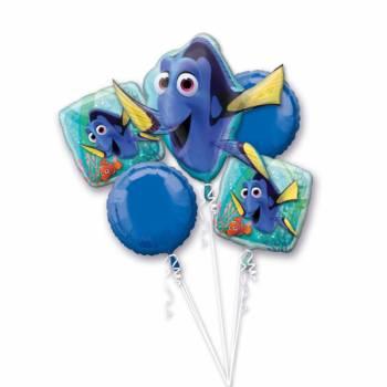 Bouquet de ballons hélium Le Monde de Dory