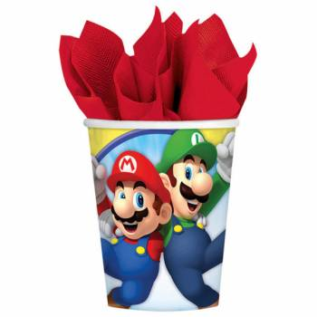 8 Gobeletst Mario Bros
