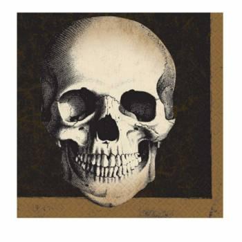 20 Serviettes en papier squelette