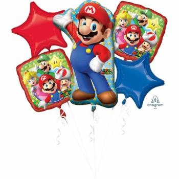 Bouquet ballon hélium Super Mario Bros